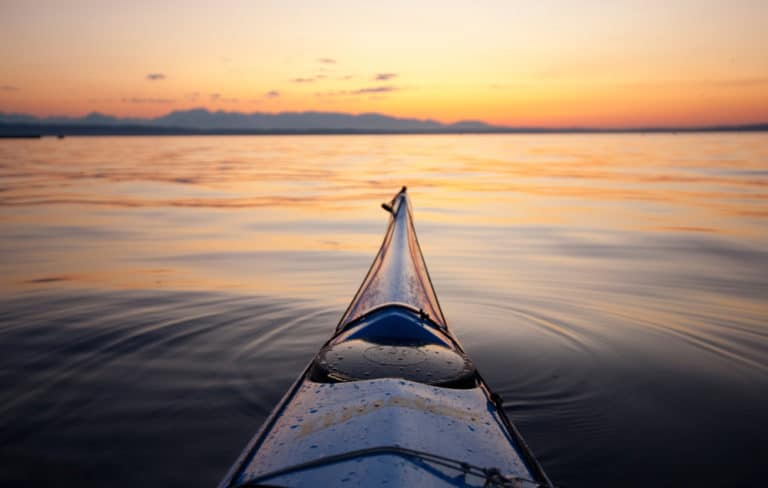 There are many great things to do on Bainbridge Island, including taking a beautiful kayak trip like this
